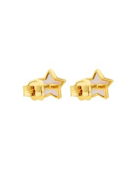 TOUS - 18K Yellow Gold XXS Mother-Of-Pearl Stud Earrings