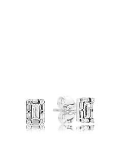 PANDORA - Sterling Silver & Cubic Zirconia Luminous Ice Stud Earrings