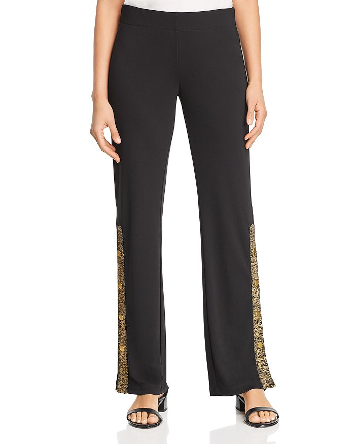 Donna Karan - Metallic Striped Pants