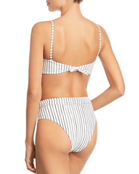 Vitamin A - Convertible Bandeau Bikini Top & High-Waist Bikini Bottom