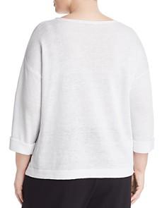 Eileen Fisher Plus - Cuffed Organic Linen Sweater