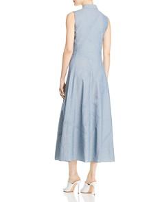Lafayette 148 New York - Ryden Embellished Chambray Maxi Shirt Dress