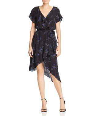 Harry Faux-Wrap Floral-Print Dress in Harper