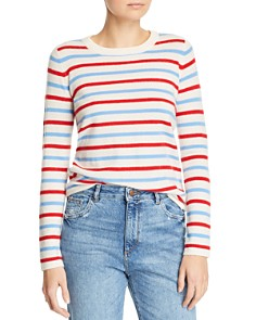 Madeleine Thompson - Manteca Striped Cashmere Crewneck Sweater