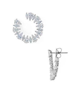 Nadri Allegro Drop Hoop Earrings