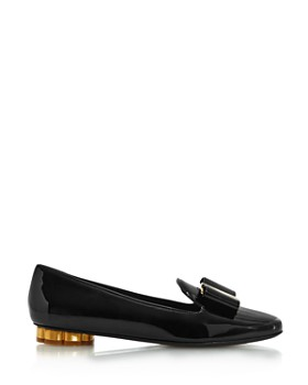 Salvatore Ferragamo - Women's Sarno Flower Heel Loafers