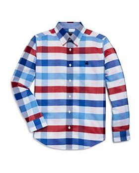 034c63d0eb Brooks Brothers - Golden Fleece® Boys  Plaid Oxford Sport Shirt - Big Kid