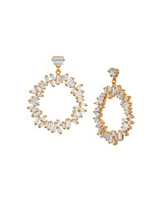 Gorjana - Amara Cluster Drop Hoop Earrings