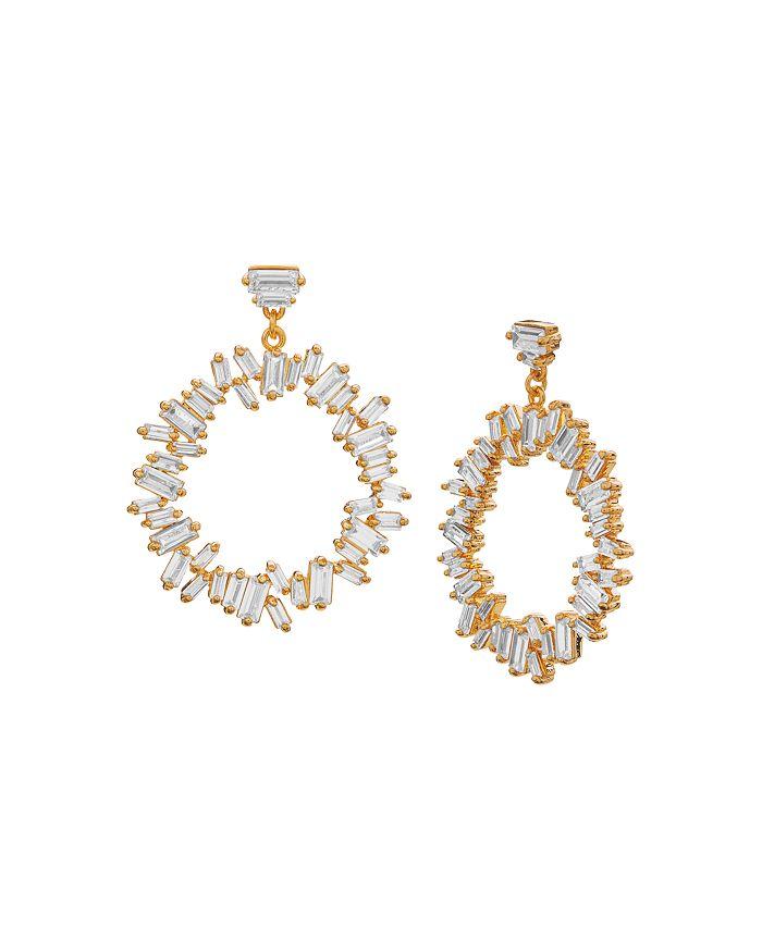 Gorjana - Amara Cluster Drop Hoop Earrings