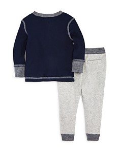 Splendid - Boys' Waffle-Knit Henley & Jogger Pants Set - Baby