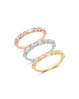 Bloomingdale's - Diamond Round & Baguette Stacking Band in 14K Gold