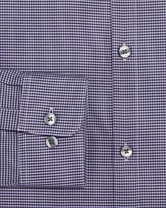 John Varvatos Star USA - Micro-Gingham Slim Fit Dress Shirt