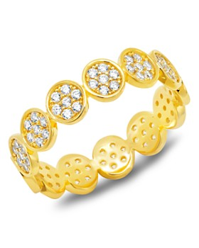 Crislu - Pavé Eternity Band in 18K Gold-Plated Sterling Silver, 18K Rose Gold-Plated Sterling Silver or 18K Platinum Gold-Plated Sterling Silver