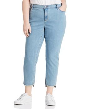 Eileen Fisher Plus - Step-Hem Ankle Slim Jeans in Frost