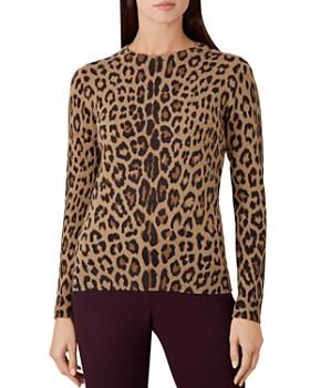 89ada9087d1 HOBBS LONDON - Hazel Leopard Print Merino Wool Sweater ...