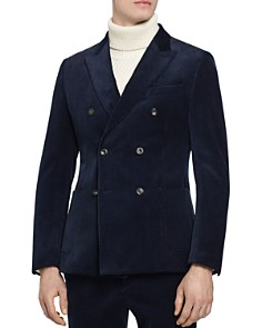 REISS - Lincoln B Slim Fit Double-Breasted Blazer