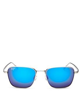 Maui Jim - Men's Spinnaker Polarized Mirrored Square Sunglasses, 54mm