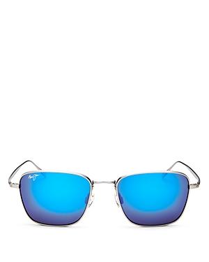 Maui Jim Men's Spinnaker Polarized Mirrored Square Sunglasses, 54mm