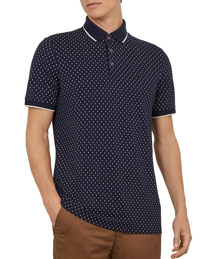 Ted Baker - Toff Geo-Print Regular Fit Polo Shirt