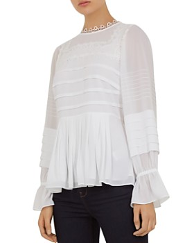 d4c97c268 Ted Baker - Roobee Lace-Trimmed Pintucked Top ...