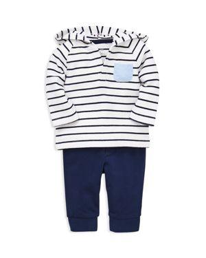 Little Me Boys' Sailor Striped Hoodie & Leggings Set - Baby
