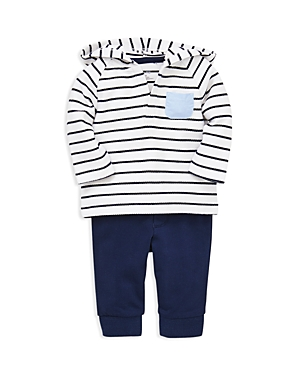 Little Me Boys Sailor Striped Hoodie  Leggings Set  Baby