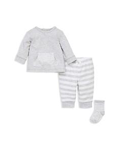 Little Me - Boys' Striped Sweatshirt, Jogger Pants & Socks Set - Baby