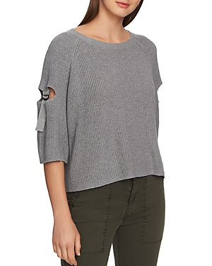 1.state Cutout Sleeve Sweater