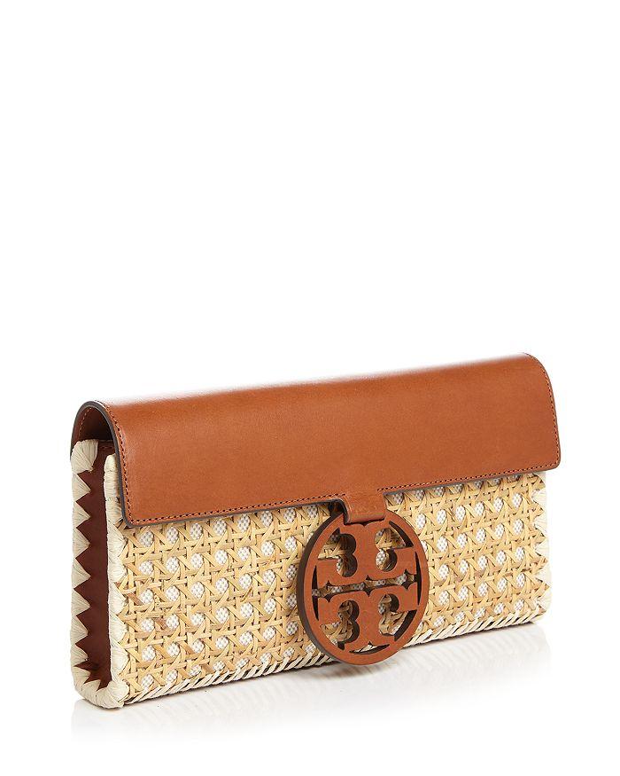 28904fd74439 Tory Burch - Miller Rattan   Leather Clutch