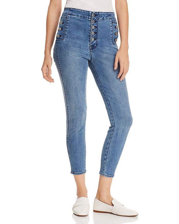 5228247287 J Brand Natasha Sky High Crop Skinny Jeans in Vega | Bloomingdale's