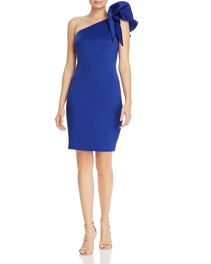 388f8070df254 Avery G One-Shoulder Ruffle Cocktail Dress | Bloomingdale's