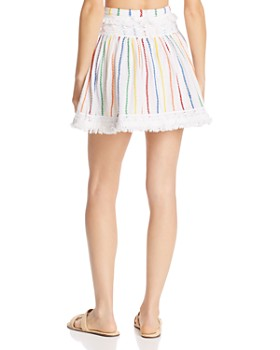 Place Nationale - Peille Embroidered Candy Stripe Mini Skirt