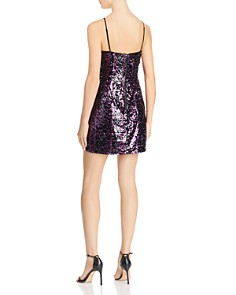 Parker - Joanie Sequined Draped Mini Dress