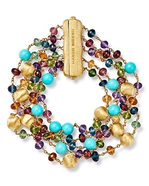 Marco Bicego 18K Yellow Gold Africa Gemstone Multi-Strand Bracelet