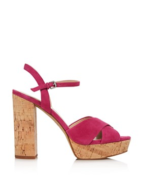Botkier - Women's Plateau Suede High-Heel Platform Sandals - 100% Exclusive