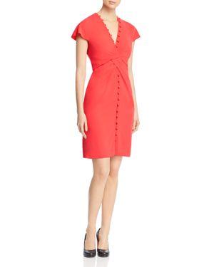 Paule Ka Knot-Detail Sheath Dress