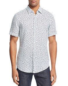 BOSS Hugo Boss - Ronn Patterned Slim Fit Button-Down Shirt