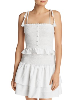 Lost and Wander - Mojito Smocked Camisole Top