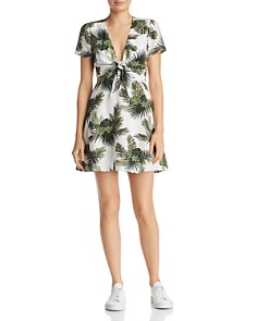 Re:Named - Paradise Tropical Print A-Line Mini Dress