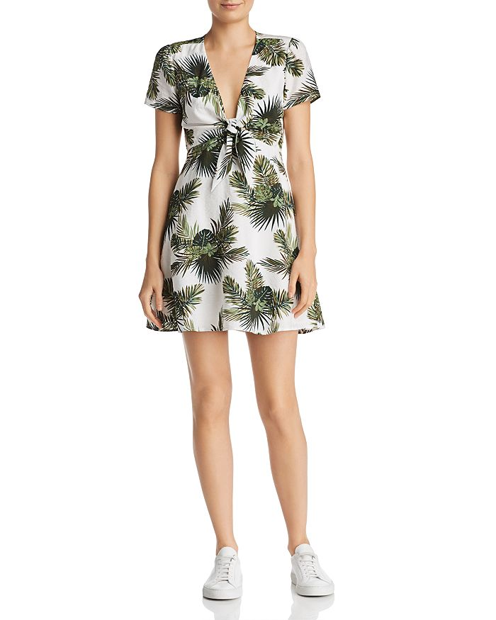 Re:Named - Paradise Tropical Print A-Line Mini Dress