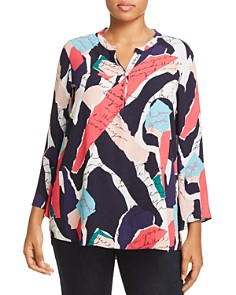 NIC and ZOE Plus - Love Letter Print Top