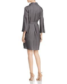 Kenneth Cole - Twill Tie-Neck Dress
