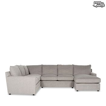 Bloomingdale's - Riley 4-Piece Sectional - Right Facing Chaise - 100% Exclusive