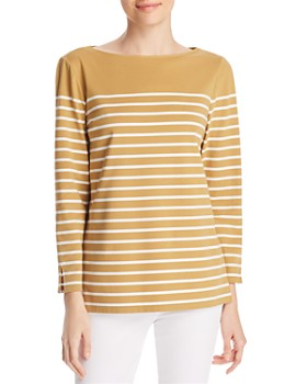 Lafayette 148 New York - Wes Striped Boat Neck Top