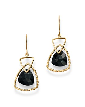 Bloomingdale's - Trillion-Cut Black Onyx Drop Earrings in 14K Yellow Gold - 100% Exclusive