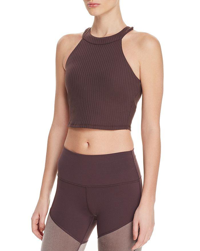 Alo Yoga - Unite Rib-Knit Sports Bra