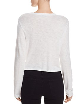 ... Splendid - Long-Sleeve Twist-Front Tee - 100% Exclusive 801ce277e