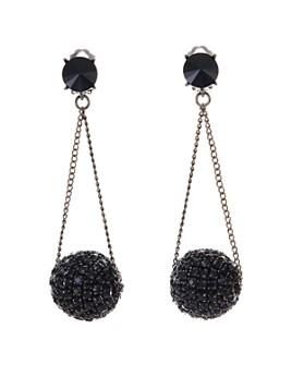 Oscar de la Renta - Crystal & Chain Clip-On Drop Earrings
