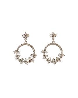 Oscar de la Renta - Crystal Hoop Earrings