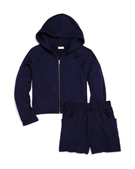 Splendid - Girls' Supersoft Hoodie & Drawstring Shorts - Big Kid